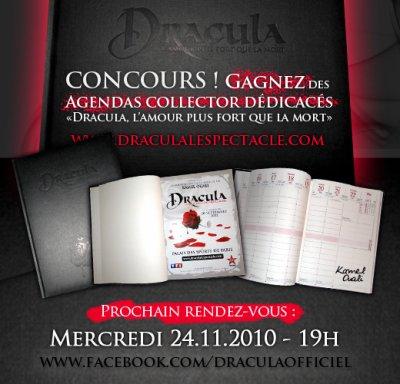 """A 19h, GAGNEZ des AGENDAS """"Dracula"""" dédicacés !"""