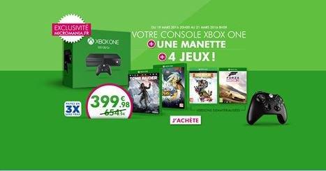 [Xbox One + 4 jeux] à moins de 400 ¤ le tout. Exclusivité du web.