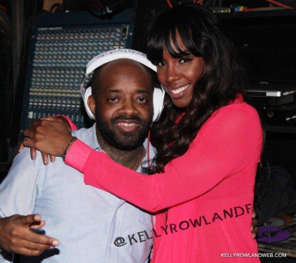Kelly Rowland & son copain Jermaine Dupri en boite de nuit a New York