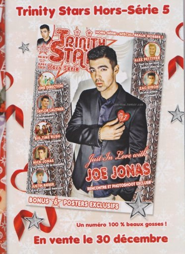 joe jonas for trinity starts magazine