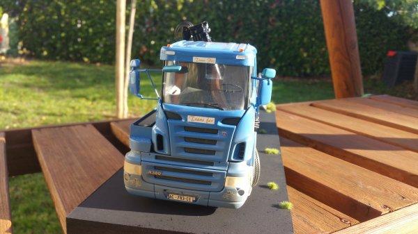 Scania a cabine Deporte 1/24 Par Damien fin + salon du week end