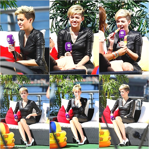 22-07-13 - Miley assiste à un interview à Planet Radio, en Allemagne. TOP ou FLOP? Donne ton avis !