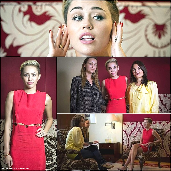 25.07.13 - Miley s'est encore faite interviewer avec 2Bild, en Allemagne. TOP ou FLOP ? Donne ton avis !