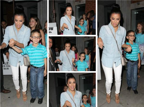 Eva est allé dîner au restaurant Mr Chow avec sa famille.
