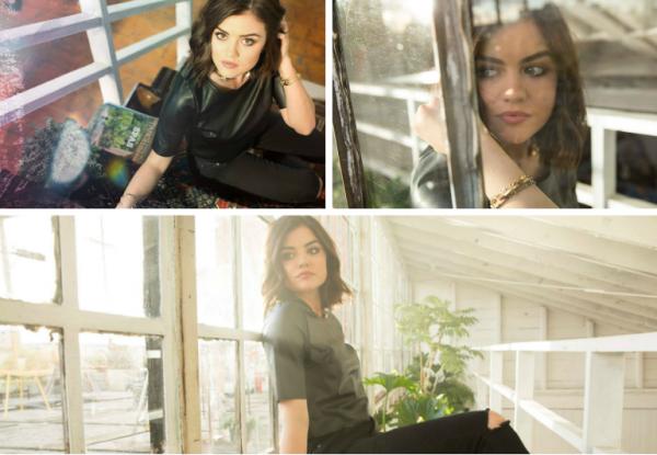 """Voici des photos de Lucy Hale lors du photoshoot """" Become wih us """" pour ABC family. Moi je la trouve trop belle sur ces photos et avec ses cheveux courts et vous ?"""