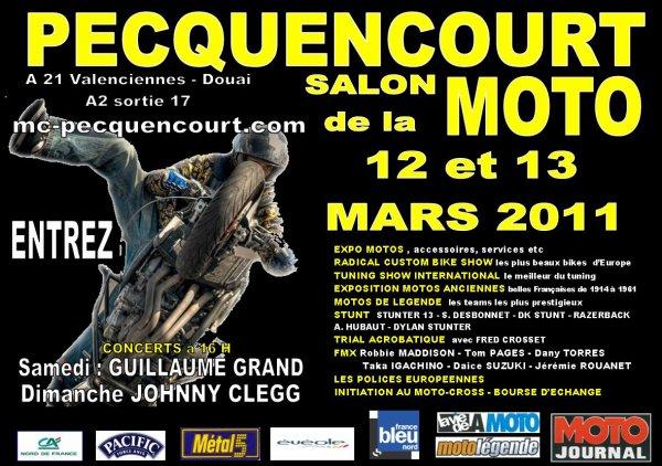 Le 32ème Salon de la Moto de PECQUENCOURT : 12 et 13 mars 2011