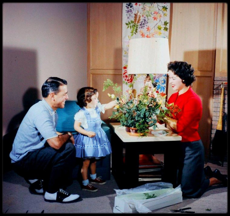 At home with Shirley TEMPLE and Charles BLACK