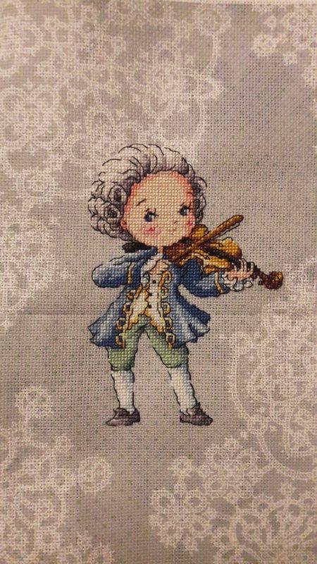 Je suis fan de Rondo Veneziano. (Musique classique) ce personnage Soda m'a fait penser à eux donc hop hop hop une jolie toile et voici le résultat😊