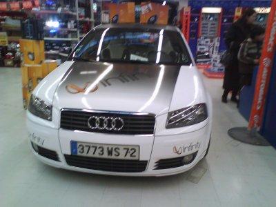 Audi A3 tuning avec pas moins de 16 subwoofers