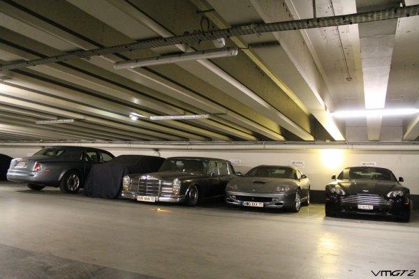 Rolls Royce Phantom - ? - Mercedes-Benz 600 Pullman Limousine - Ferrari 550 Barchetta - Aston Martin V8 Volante