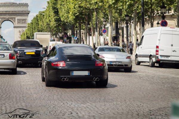 Rolls Royce Phantom Drophead Coupé - Porsche 911 (Typ 997 MKI) Carrera 4S - Mercedes-Benz SLS AMG