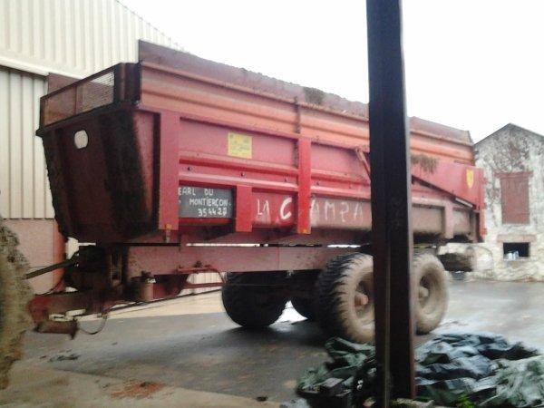 tracteur john deere 7710 plus benne la campagne 16 tonnes