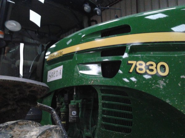 tracteur john deere 7830 au semis