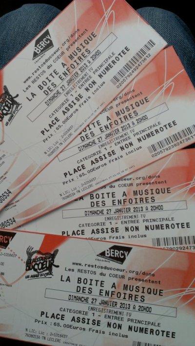 3437°/ Les Enfoirés à Bercy en 2013