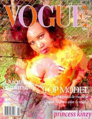 Votre  Princess Kinzy fait sa pub pour le magazine Vogue