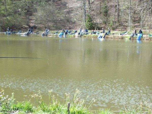 Concours Arca 29/04/2012 au carpodrome de Nivezé en collaboration avec Verviers Pêche!