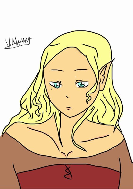 Une elfe de ma Fiction