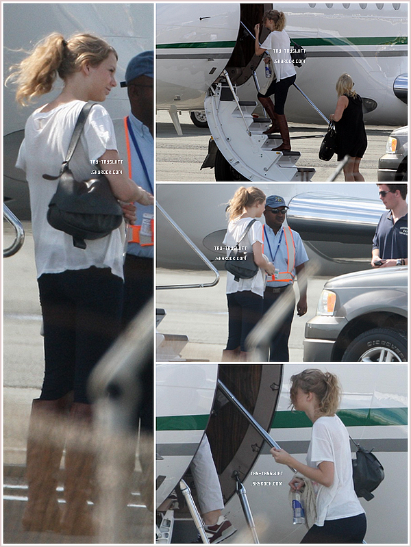 Well hop, Taylor flew for  two days of vacation with  his family .. if not happiness that? ♥  24/12/10 : Tay', sa mère et son frère, montant à bord de leurs jet privé. Bande de chanceux ! ;)