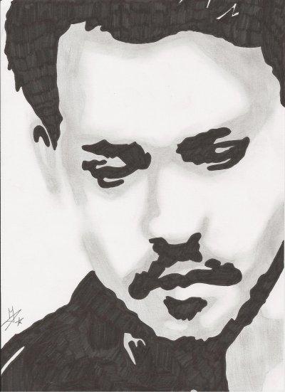 Johnny Depp (inspiré par -coup-de-crayon-xx)