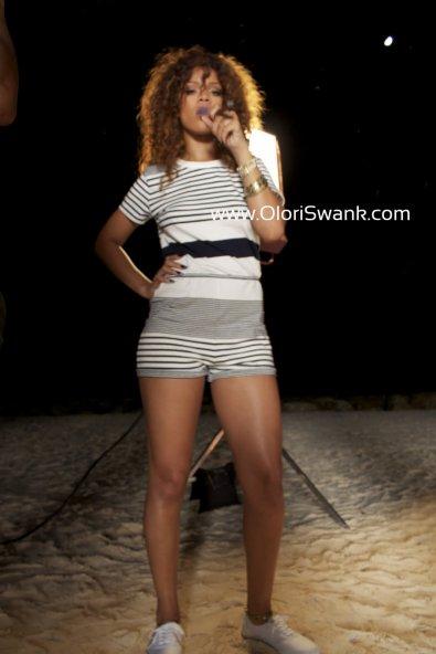 Rihanna sur le tournage du clip de J.Cole.
