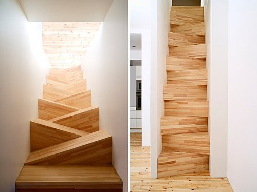 Trop bizarre les escaliers !!!