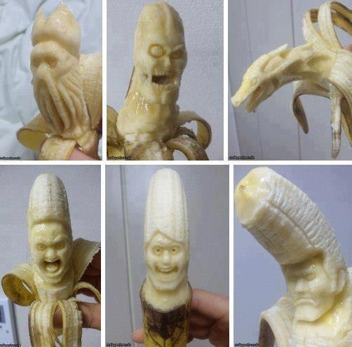 Sculpture sur aliment