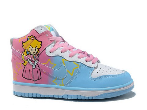 Cute   Cheap Nike Dunk Princess Peach Toadstool Super Mario Shoes ... f28f7b03f