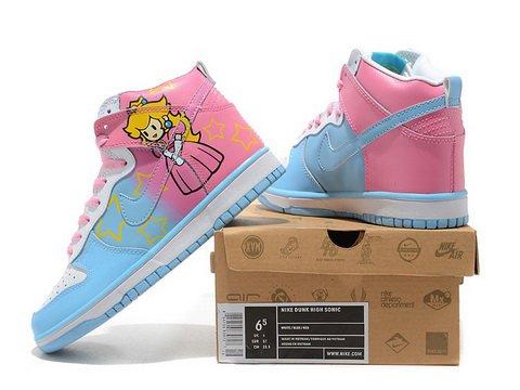 ... Cute   Cheap Nike Dunk Princess Peach Toadstool Super Mario Shoes ... 1f2700391
