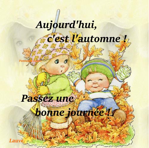 Premier jour d'automne, bon mercredi à tous