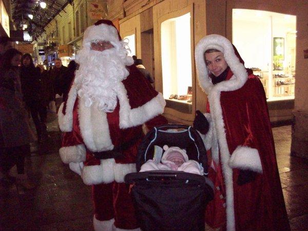 sortie sous la neige en famille sur le marché de Noël + resto super soirée :)