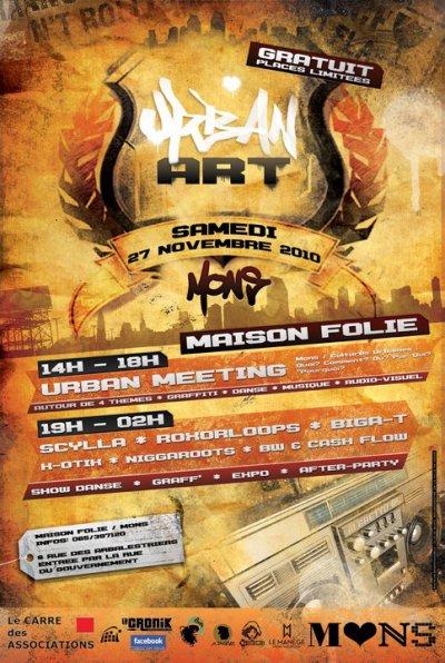 "SCYLLA EN CONCERT A MONS AU ""URBAN ART"" LE SAMEDI 27 NOVEMBRE 2010 !"
