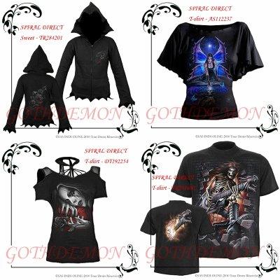 GOTHDEMON - T-shirt, top, veste, Métal, Rockabilly, Gothic - SPIRAL DIRECT - DARK WEAR