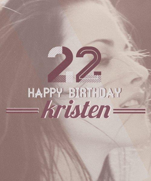 2 e article pour l'anniversaire de Kristen ♥