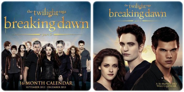 . Calendrier 2013 De Breaking Dawn .