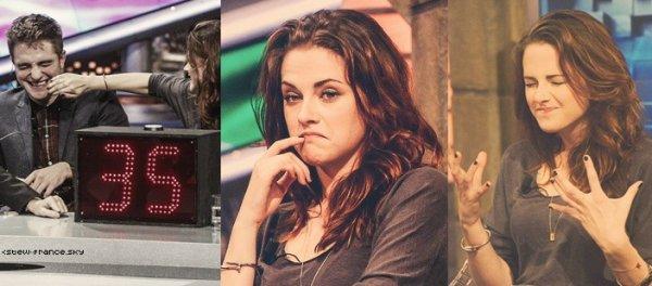 . 15.11.12 Kristen Robert et Taylor étaient à l'émission El Hormiguero à Madrid.