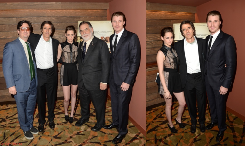 . 06.12.12 Kristen, Garrett et Walter Salles était à la projection privée d'On The Road à Los Angeles . Top