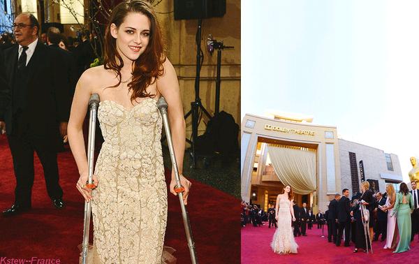 . 24.02.13 Kristen plus magnifique,superbe et incroyable que jamais était comme prévus au Oscar,ou elle a présentée un prix avec Daniel Radcliffe pour le meilleur décor .