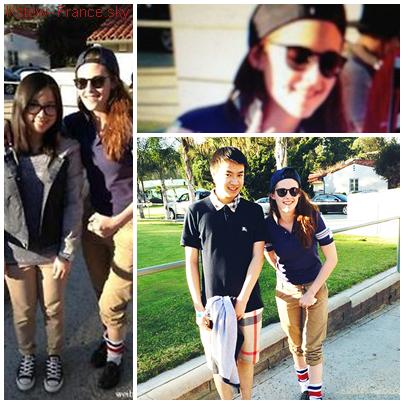 . 11.03.11 Kristen avec des fan,Kristen allait au golf a Los Angeles.