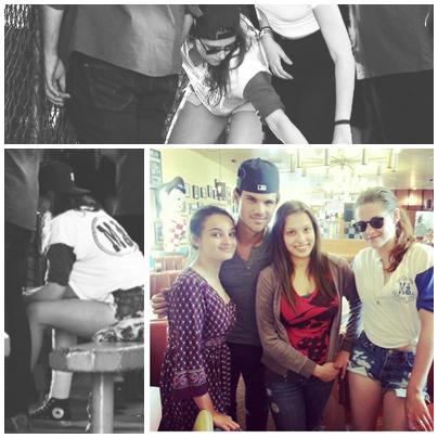 . 13.03.13 Kristen,Taylor et ces amis étaient vue fessant du baseball dans des cages à LA.