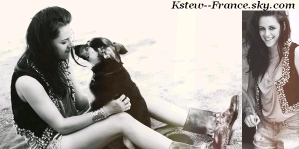 . Des anciennes photos de Kristen pour le magazine ELLE France en Mai 2012,