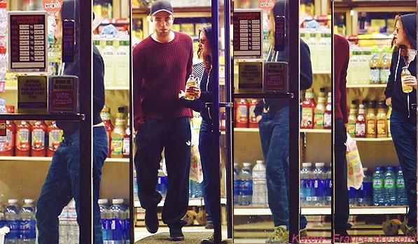 . 28.04.13 Robsten a une épicerie + 30.04.13 Kristen a LA.