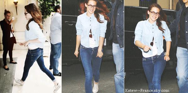 . 03.07.13 Kristen rentrais a son hôtel après une petite séance shopping chez Channel .