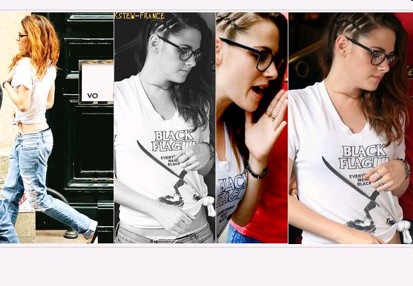 . Kristen allant dans un restaurant a Paris et a l'aéroport.