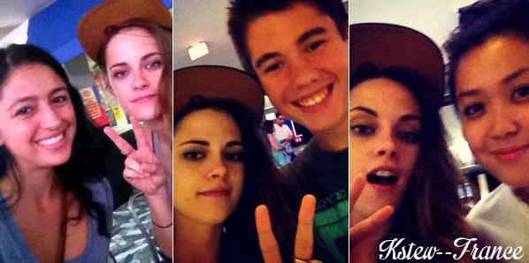 . 14.07.13 Kristen était au Bowling et avec des fans.