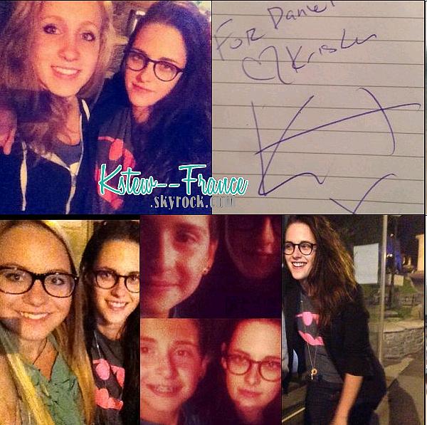 . 20.09.13 Kristen avec des fans en Suisse.