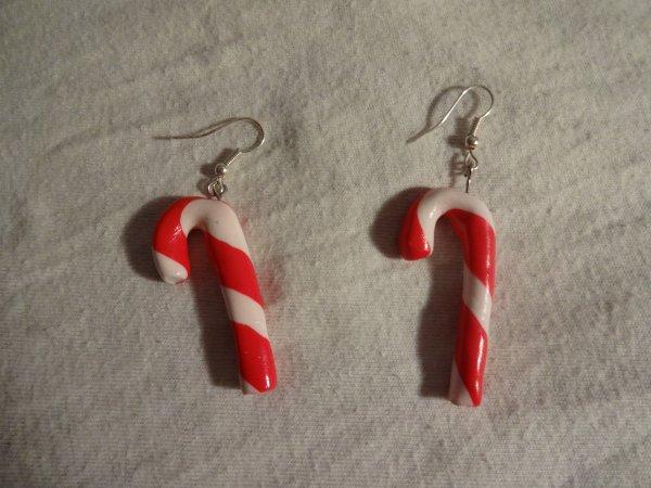 5ème objet : Boucles d'oreilles sucre d'orge