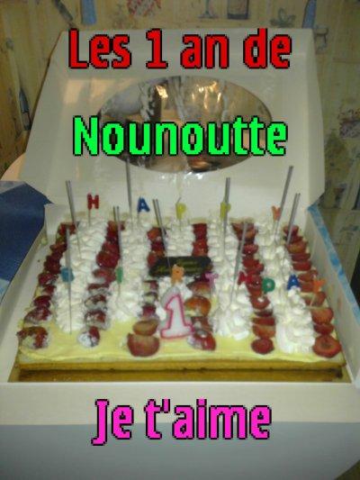 Les 1 an de ma Nounoutte