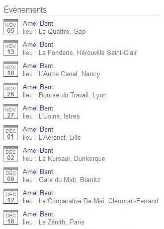 Amel Bent en concert !
