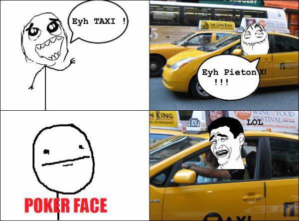 Troll Face-Taxi