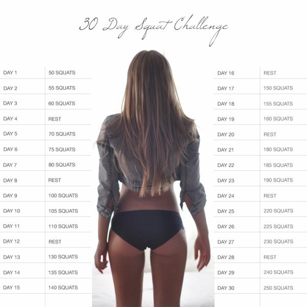 30 days squat challenge !